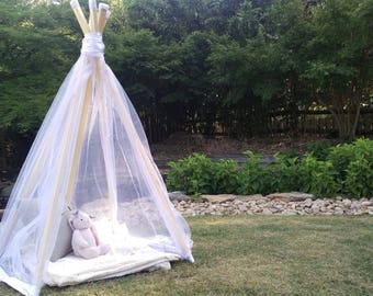 The Vieve Teepee - in satin and tulle
