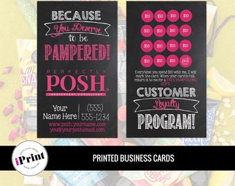 Perfectly Posh Business Card • Perfectly Posh Loyalty Card • Perfectly Posh Marketing Materials • Perfectly Posh Punch Card • PP-BC018