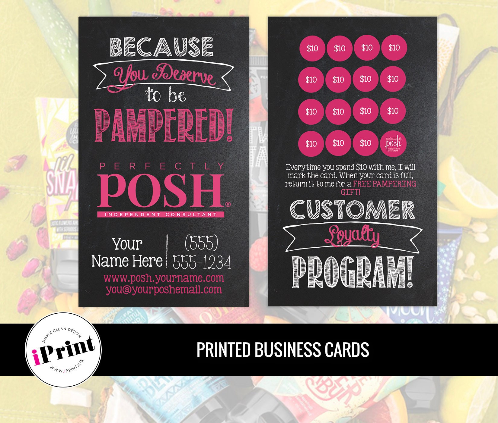 Perfectly Posh Business Card Perfectly Posh Loyalty Card
