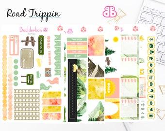 Road Trippin Sticker Set | Planner Stickers | Weekly Planner Sticker Set, Road Trip Sticker Set