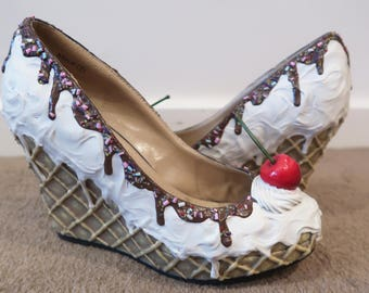 Ice Cream Wedge Shoes
