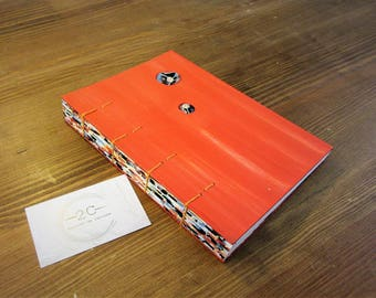Notebook to fill - cajoler - creative - book theme wellness - Made in Arles - Coptic binding - Motivation