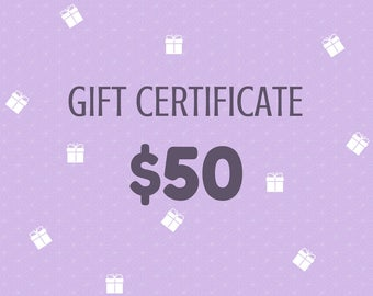 Gift Certificate 50 Dollars from Wooden Caterpillar Toys