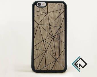 Wood Iphone 7 case natural wood phone case geometric phone skin minimalistic protective present Apple Iphone 7 plus phone case  K3