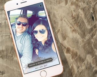 Custom Wedding Snapchat Filter Design