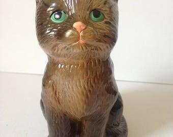 Tabby Cat, Vintage Cat Figurine, Cat Statue, Ceramic Cat, Feline, Kitty Cat, Cat Lover Gift, Cat Decor, Cat Lady Gift, Animal Ornaments