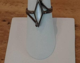Clearance Week Antique Mother Of Pearl Sterling Silver Ring Size 7
