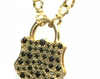 Paddy-lock Gold & Crystal Necklaces