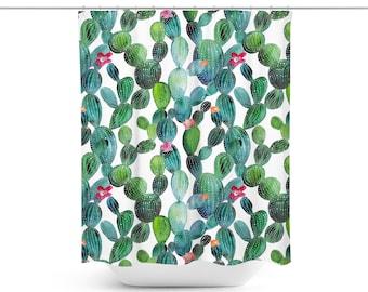 Cactus Shower Curtain | Cactus Bathroom Décor | Cactus Bath Décor | Cactus Shower Décor | Cactus Décor | Cactus Bath