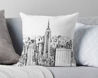 New York Throw Pillow   New York Pillow Cover   New York Cushion   New York Décor   New York Gift   New York Pillow Case