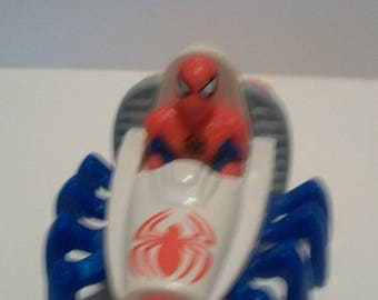 Marvel 1995 Spider-man in Spider Car Fast Food Happy Meal Toy Car Great Birthday Cake Topper