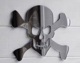 Pirate Skull and Crossbones Acrylic Mirror