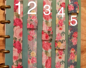 Floral Planner Bands With Pen Loop