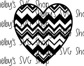 Zig Zag Heart - SVG