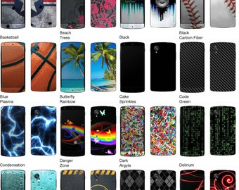 Choose Any 2 Designs - Vinyl Skins / Decals / Stickers for LG Nexus 5 Android Smartphone