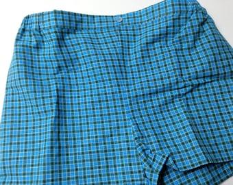 Plaid cotton shorts