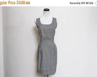 25% OFF VTG 90s Black White Bodycon Checkered Secretary Dress M