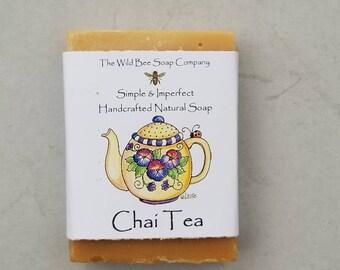 Chai Tea Soap, Tea Soap, Soap, Bar Soap, Natural Soap, Handcrafted Soap, Vegan Soap, Lemon, Litsea, Skincare, Bar Soap, Valentine's Day Gift