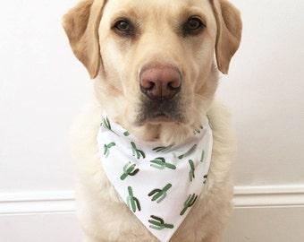 Dog Bandana, Over The Collar Dog Bandana, Contemporary Dog Bandana, Little Wolf Dog Bandana, Gold Cactus Bandana, Gold Cactus Dog Bandana