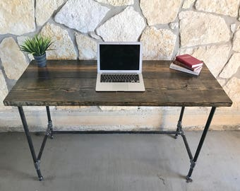 Office Iron and Wood Desk