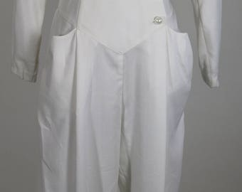 HB Honeybee 1980's White Jumpsuit