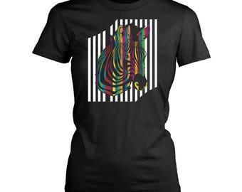 Zebra womens fit T-Shirt. Funny Zebra shirt.