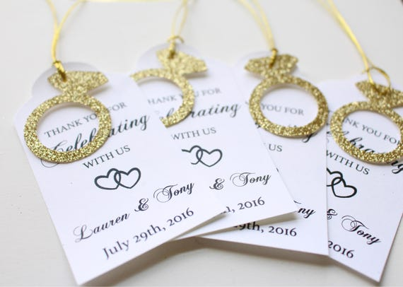 Wedding Favor Tags Personalised