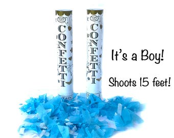 Gender Reveal Blue Confetti Cannon |Gender Reveal Party Pregnancy Announcement Baby Announcement It's a Boy Baby Shower for Him New Baby Boy