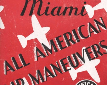 Miami All American Air Maneuvers 1948 Official Program