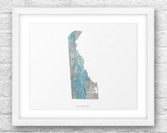Delaware Map, Delaware Print, Delaware Art, Delaware Map Art, Delaware Printable, Instant Download, Delaware 8x10, Delaware Wood Printable