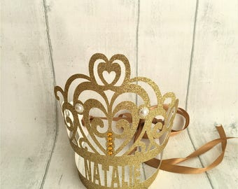 Princess Crown. Personalised Party Tiara.  Birthday Party Favors. Bride to Be. Photo Props. Birthday Princess Tiaras. Personalised Crown