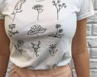 Flower Grid T-Shirt