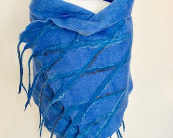 Wool Felted Wrap   Wool Felted Shawl   Merino Wool Scarf   Merino Wool Accessories   Merino Wool Felting