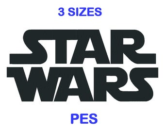 Star Wars Embroidery Font - 3 Size - PES Format Embroidery Alphabet - Embroidery Letters - Brother - Machine Embroidery Designs Patterns