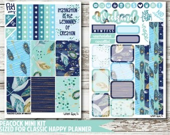 Peacock CLASSIC HAPPY PLANNER Stickers