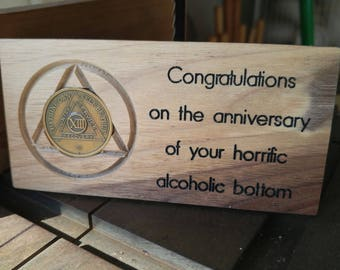 Alcoholics Anonymous Medallion Holder