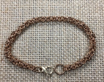 Bitty Byzantine Bracelet in Bronze