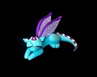 Polymer clay dragon, dragon figurine