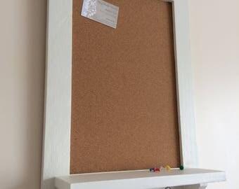 Corkboard, Memo Board, Pin Board, Framed, Reclaimed Wood, Painted Message Board, Kitchen Organiser, Office Organiser, Annie Sloan