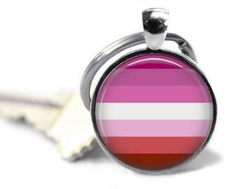 Lesbian Pride 25mm Keyring, Pride Keychain, LGBT Pride, Gay Pride, LGBT Jewelry
