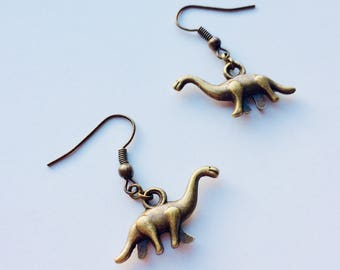 Diplodocus | Long Neck | Dinosaur | Jurassic World | Retro | Cute | Earrings