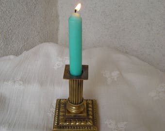 Vintage Candlestick.  Old Bronze Candle Holder.