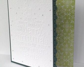 Green tree - Merry Christmas - Christmas greeting card
