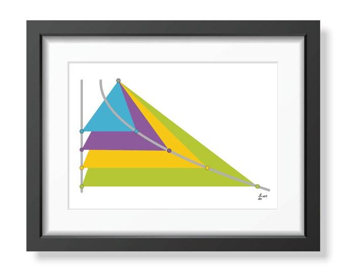 Parabola 01 [mathematical abstract art print, unframed] A4/A3 sizes