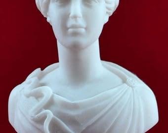 Athena bust greek statue wisdom civilization goddess white NEW