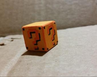Mario Mystery Block Keychain Charm