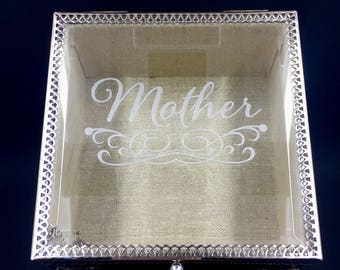 Mothers Day Gift For Mom Decorative Jewelry or Trinket Box Keepsake Ring Box Personalized Home Decor Gift for Her Monogrammed Etched
