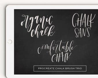 Chalk Brush Trio Procreate Brush Lettering Calligraphy iPad Pro Digital
