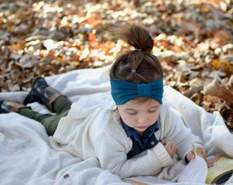 Teal Turban Headband, Baby Headwrap, Baby Turban, Toddler Headband, Child's Turban, Adult Turban Headband