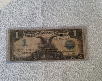 1899 US Silver Certificate 1 Dollar Currency